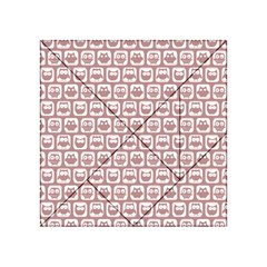 Light Pink And White Owl Pattern Acrylic Tangram Puzzle (4  x 4 )