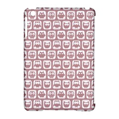Light Pink And White Owl Pattern Apple iPad Mini Hardshell Case (Compatible with Smart Cover)