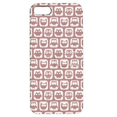 Light Pink And White Owl Pattern Apple iPhone 5 Hardshell Case with Stand