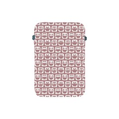 Light Pink And White Owl Pattern Apple iPad Mini Protective Soft Cases