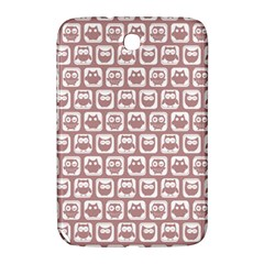 Light Pink And White Owl Pattern Samsung Galaxy Note 8.0 N5100 Hardshell Case