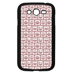 Light Pink And White Owl Pattern Samsung Galaxy Grand DUOS I9082 Case (Black)
