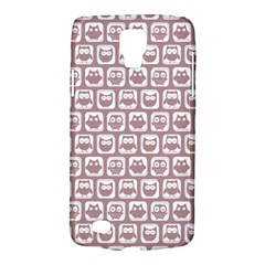 Light Pink And White Owl Pattern Galaxy S4 Active