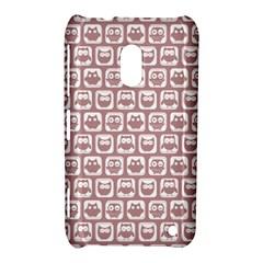 Light Pink And White Owl Pattern Nokia Lumia 620