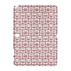 Light Pink And White Owl Pattern Samsung Galaxy Note 10.1 (P600) Hardshell Case