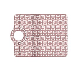 Light Pink And White Owl Pattern Kindle Fire HD (2013) Flip 360 Case