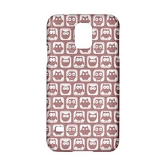 Light Pink And White Owl Pattern Samsung Galaxy S5 Hardshell Case