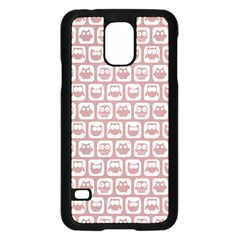 Light Pink And White Owl Pattern Samsung Galaxy S5 Case (Black)