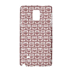 Light Pink And White Owl Pattern Samsung Galaxy Note 4 Hardshell Case