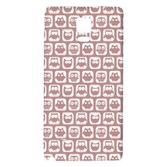Light Pink And White Owl Pattern Galaxy Note 4 Back Case