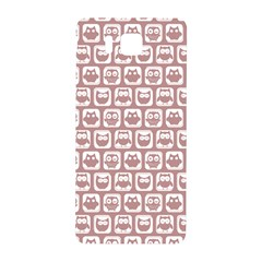 Light Pink And White Owl Pattern Samsung Galaxy Alpha Hardshell Back Case