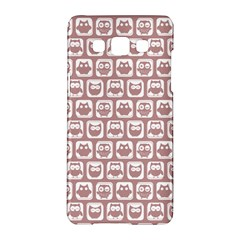 Light Pink And White Owl Pattern Samsung Galaxy A5 Hardshell Case