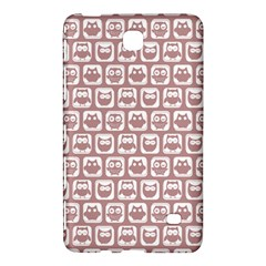 Light Pink And White Owl Pattern Samsung Galaxy Tab 4 (7 ) Hardshell Case