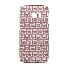 Light Pink And White Owl Pattern Galaxy S6 Edge