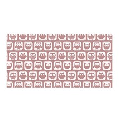 Light Pink And White Owl Pattern Satin Wrap