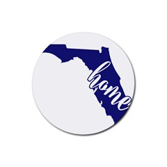 Florida Home  Rubber Coaster (Round)