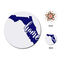 Florida Home  Playing Cards (round)