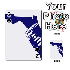 Florida Home  Playing Cards 54 Designs