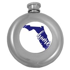 Florida Home  Round Hip Flask (5 oz)