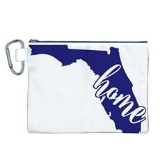 Florida Home  Canvas Cosmetic Bag (L)