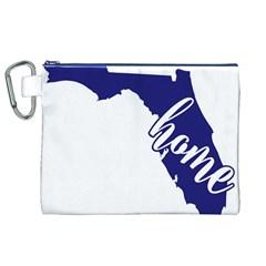 Florida Home  Canvas Cosmetic Bag (XL)