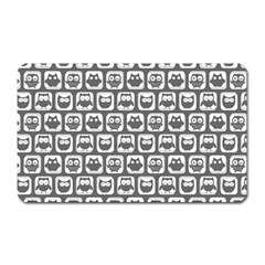 Gray And White Owl Pattern Magnet (Rectangular)