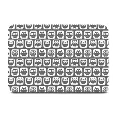 Gray And White Owl Pattern Plate Mats