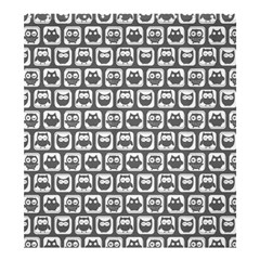 Gray And White Owl Pattern Shower Curtain 66  x 72  (Large)
