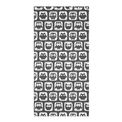 Gray And White Owl Pattern Shower Curtain 36  x 72  (Stall)