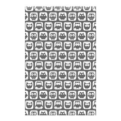 Gray And White Owl Pattern Shower Curtain 48  x 72  (Small)