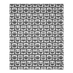 Gray And White Owl Pattern Shower Curtain 60  X 72  (medium)
