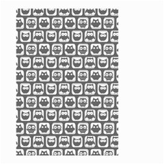 Gray And White Owl Pattern Small Garden Flag (two Sides)