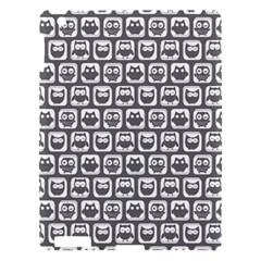 Gray And White Owl Pattern Apple iPad 3/4 Hardshell Case