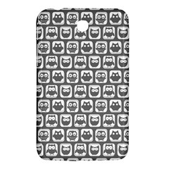 Gray And White Owl Pattern Samsung Galaxy Tab 3 (7 ) P3200 Hardshell Case