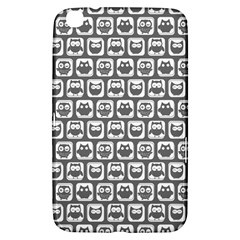 Gray And White Owl Pattern Samsung Galaxy Tab 3 (8 ) T3100 Hardshell Case