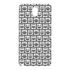 Gray And White Owl Pattern Samsung Galaxy Note 3 N9005 Hardshell Back Case