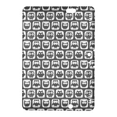 Gray And White Owl Pattern Kindle Fire HDX 8.9  Hardshell Case