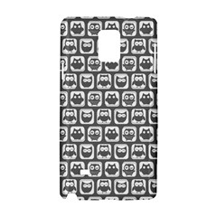Gray And White Owl Pattern Samsung Galaxy Note 4 Hardshell Case