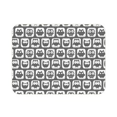 Gray And White Owl Pattern Double Sided Flano Blanket (mini)