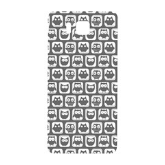 Gray And White Owl Pattern Samsung Galaxy Alpha Hardshell Back Case