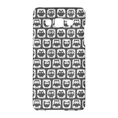Gray And White Owl Pattern Samsung Galaxy A5 Hardshell Case