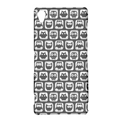 Gray And White Owl Pattern Sony Xperia Z3