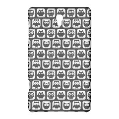 Gray And White Owl Pattern Samsung Galaxy Tab S (8.4 ) Hardshell Case
