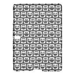 Gray And White Owl Pattern Samsung Galaxy Tab S (10.5 ) Hardshell Case
