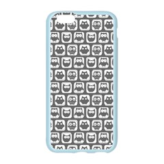 Gray And White Owl Pattern Apple Seamless iPhone 6 Case (Color)