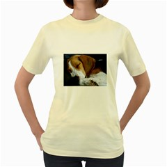 Beagle Sleeping Women s Yellow T-Shirt