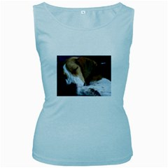 Beagle Sleeping Women s Baby Blue Tank Tops
