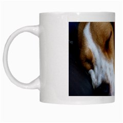 Beagle Sleeping White Mugs