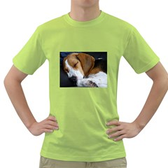 Beagle Sleeping Green T-Shirt
