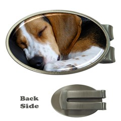 Beagle Sleeping Money Clips (Oval)